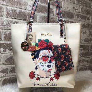 Frida Kahlo Ladies Tote Bag Purse Sugar Skull